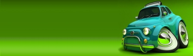 green-crazy-car-on-green-background-header