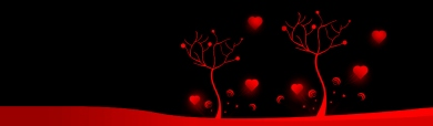 abstract-hearts-trees-on-black-background-header