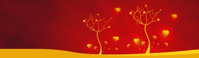 abstract-hearts-trees-on-red-background-header